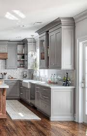 grey kitchen cabinets with white top 75 beautiful kitchen with gray cabinets and white