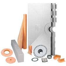 schluter kerdi shower 48 in x 48 in shower kit in pvc with