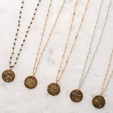 monogram disc necklace virtue small monogram disc rosary chain necklace