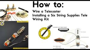 how to wire a telecaster youtube