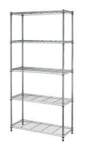 5 Tier Wire Shelving by 5 Tier Nsf Wire Shelving Rack With Wheels Chrome Wire Storage