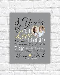 8 year wedding anniversary gift wedding anniversary gift choose any year 8th anniversary 8 years