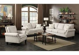 Yorktown Linen Nailhead Sofa Badcock Home Furniture  More Of - Badcock furniture living room set
