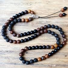 natural bead necklace images New design fashion black men 39 s 8mm black lava stones brown natural jpg