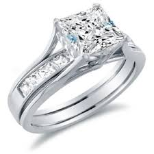 engagement rings and wedding band sets white gold princess cut engagement rings