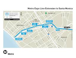 Santa Monica Map High Ridership For Expo Line Extension U0027s First Birthday