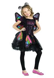 skeleton halloween costumes for girls child rainbow butterfly costume walmart com