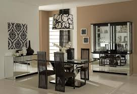 dining room wall decor with mirror black countertop nice