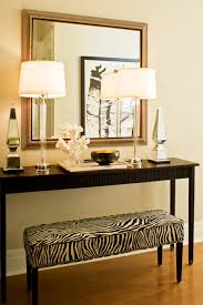 Black Foyer Table Zebra Bench Contemporary Entrance Foyer Kimberley Seldon