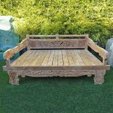wholesale bali furniture sofa day bed with carving for the