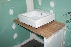 salle de bain avec meuble de cuisine faire un meuble de salle bain avec plan travail cuisine able id es