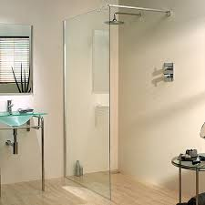 1200x1950 glass shower screen u0026 750mm arm left handed lakes