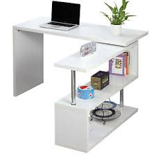 study table l l shape corner pc computer office desk table workstation with