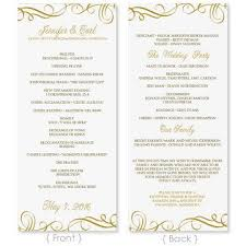 gold wedding programs wedding program template instantly edit yourself