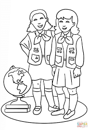 brownie girls scout coloring page free printable coloring pages