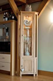 Oak Glazed Display Cabinet Glazed Bookcases Oak Corner Bookcase Solid Oak Corner Display