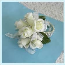 corsage wristlets rhinestone wristlet corsage white roses corsage rhinestones