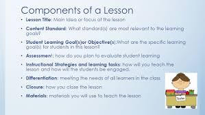 lesson plans the uwg way block one components of a lesson lesson