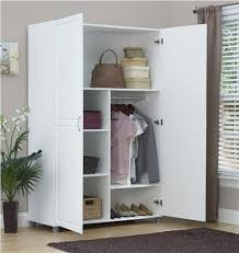 clothes storage cabinets with doors systembuild furniture kendall 48 wardrobe storage cabinet white