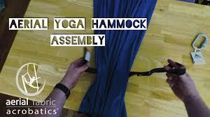 aerial yoga hammock assembly youtube