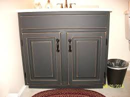 chalk paint cabinets distressed painting a bathroom vanity white distressed kitchen black chalk
