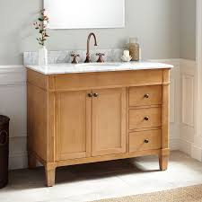 Signature Cabinet Hardware Bathrooms Design Vanity Cabinet Weathered Oak Carrara Wood