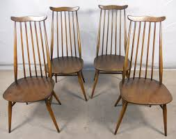 Ercol Dining Chair Set Of Four Elm Dining Chairs By Ercol Sold