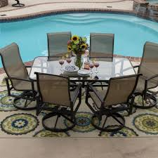 Patio Furniture Swivel Chairs Outdoor Swivel Dining Chairs Ideas With Dining Table Fire Pit With
