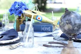 travel themed table decorations included around the world injoy the party