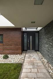 modern front doors get a modern stained wood entry way for your home a simple