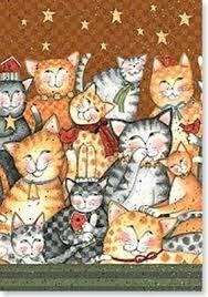 pussycat collage birthday greetings card mystic wish