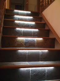 staircase with led lights sparkle words social