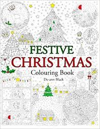 amazon festive christmas colouring book 9781908072986