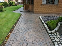 Cost Of Stamped Concrete Patio by Cobblestone Stamped Concrete Patio Great Appearance Of