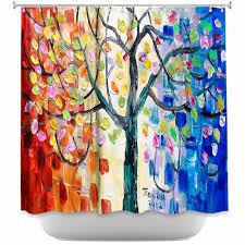 Artistic Shower Curtains Artistic Shower Curtains By Lam Tim Surreal Blossom Tree