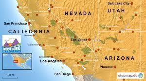 Map Of Arizona And Utah by California Nevada Map My Blog