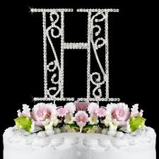 h cake topper h wf monogram wedding cake toppers