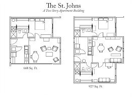 Two Story Apartment Floor Plans St Johns Apartments Moosehaven