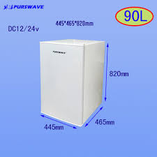 Table Top Refrigerator Purswave 90l Dc Fridge 12v 24v Solar Table Top Refrigerator