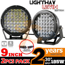 Led Off Road Lights Cheap 9 Inch 185w Cree Led Work Light Bar Offroad Driving Fog Spot Light