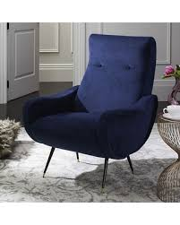 Blue Velvet Accent Chair Don U0027t Miss This Bargain Safavieh Elicia Velvet Accent Chair Blue