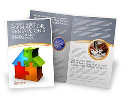 real estate finance puzzle brochure template design and layout