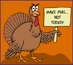 make peas not turkey thanksgiving greeting