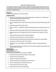 Junior Network Administrator Resume Resume Format For Network Engineer