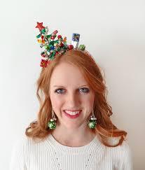 mistletoe headband christmas tree headband christmas headband christmas