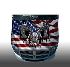 hunting truck decals dodge ram american flag hood wrap wraps sticker vinyl decal