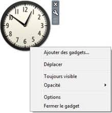 horloge bureau windows 7 tutoriel windows 7 tutoriels pour utiliser windows seven