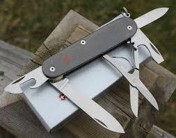 sakmodder custom victorinox titanium super tinker swiss army knife