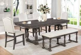 gray dining table with bench grey dining room sets gallery pics for grey dining room grey dining
