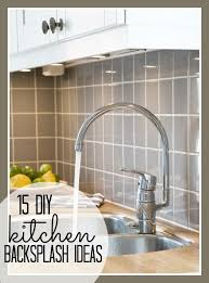 diy kitchen backsplash ideas remodelaholic 15 diy kitchen backsplash ideas